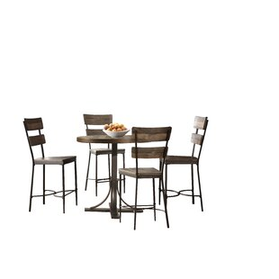 Gracie Oaks Putney 5 Piece Counter Height Breakfast Nook Dining Set