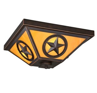 Frank 3-Light Outdoor Flush Mount