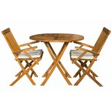 Villarreal 3 Piece Teak Bistro Set with Sunbrella Cushions
