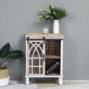 Telma Decorative Sliding Wood 1 Door Accent Cabinet ByGracie Oaks