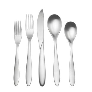 Bella 20 Piece 18/10 Stainless Steel Flatware Set, Service for 4