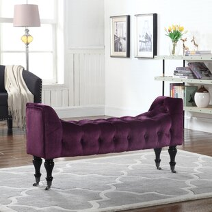 Mercer41 Sanders Tufted Velvet Bench