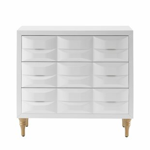 Hadassah 3 Drawer Accent Chest by Everly Quinn