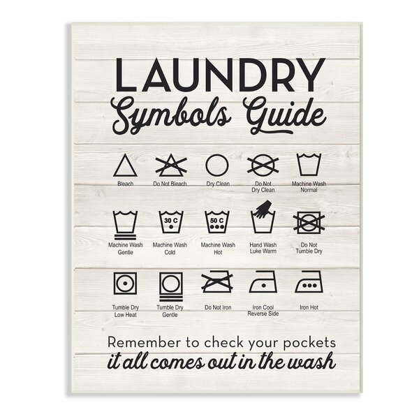 Laundry Symbols Art Wayfair