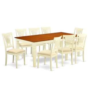 Beesley 9 Piece Extendable Solid Wood Dining Set DarHome Co