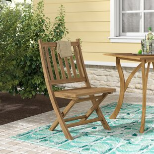 Top Reviews Elaina Wood Folding Chair by Beachcrest Home