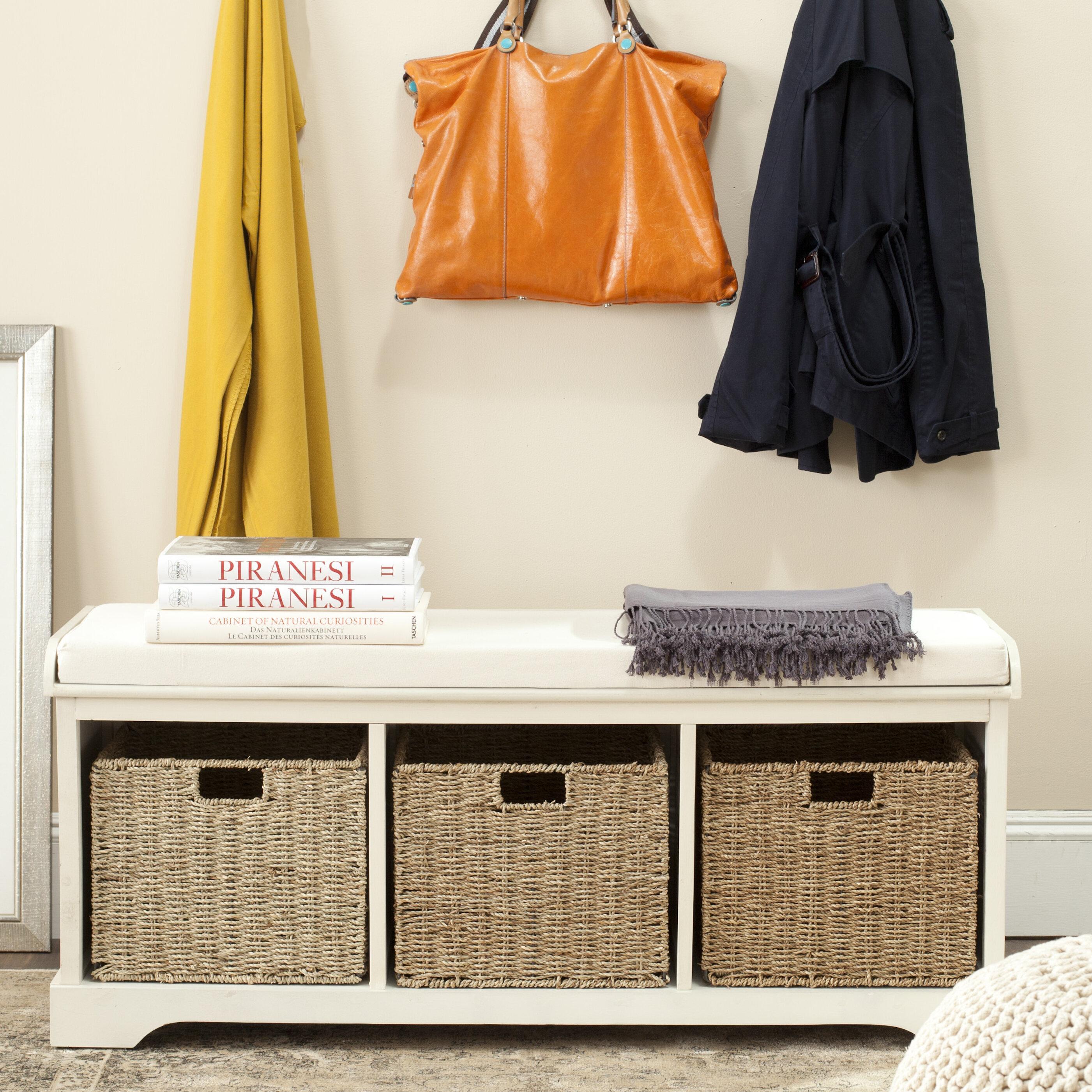 Santa Cruz Upholstered Cubby Storage Bench Reviews Joss Main