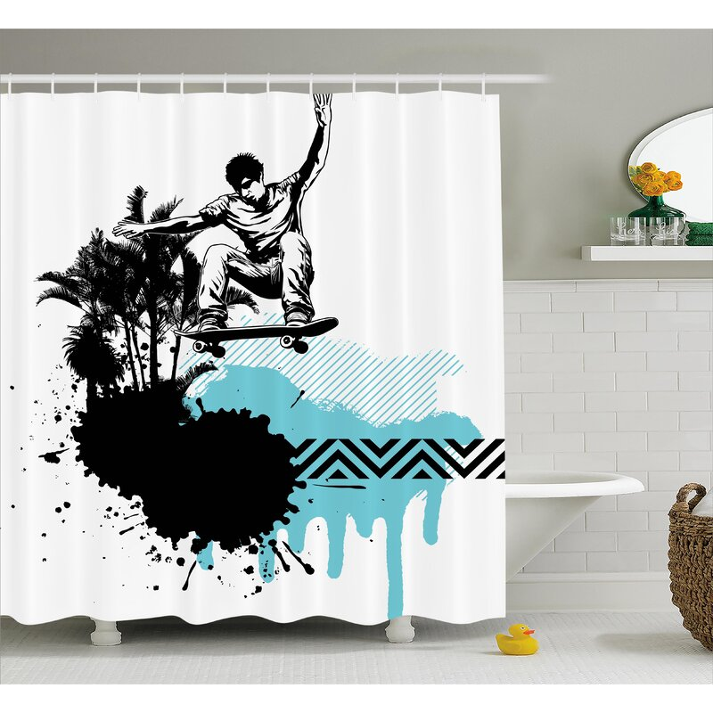 Boy Skater Shower Curtain