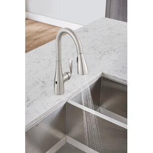 Arbor Pull Down Touchless Single Handle Kitchen Faucet with MotionSense™ and Power Clean™ Technologies by Moen