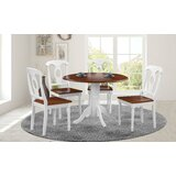 Vernell 5 Piece Drop Leaf Solid Wood Dining Set by August Grove®