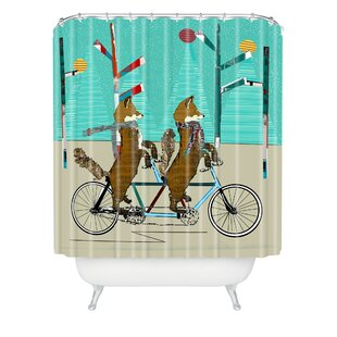 Brian Buckley Foxy Days Lets Tandem Single Shower Curtain