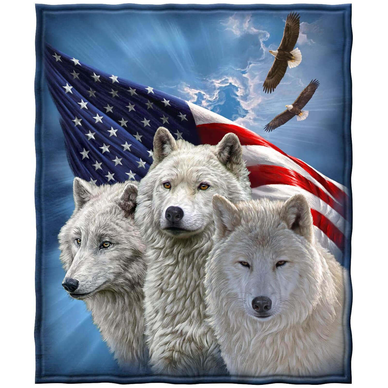 Trinx Wolves And Eagles Honoring Our Heroes Super Soft Throw Wayfair