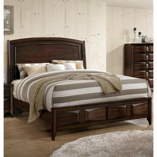 Crispin Lined Wooden Standard Bed by World Menagerie