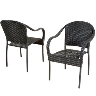 Georgie Stacking Patio Dining Chair (Set of 2)