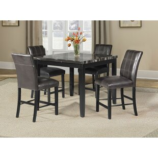 Coupon Warba 5 Piece Pub Table Set By Latitude Run