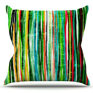 Fancy Stripes By Frederic Levy-Hadida Outdoor Throw Pillow by East Urban Home
