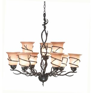 Easton 9-Light Shaded Chandelier by Loon Peak