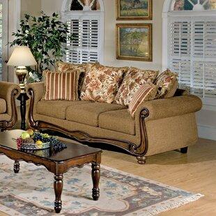 Fleur De Lis Living Watts Fabric Upholstered 3 Seater Sofa