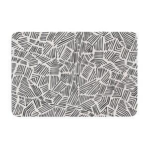 Pom Graphic Design Inca Lines Illustration Memory Foam Bath Rug