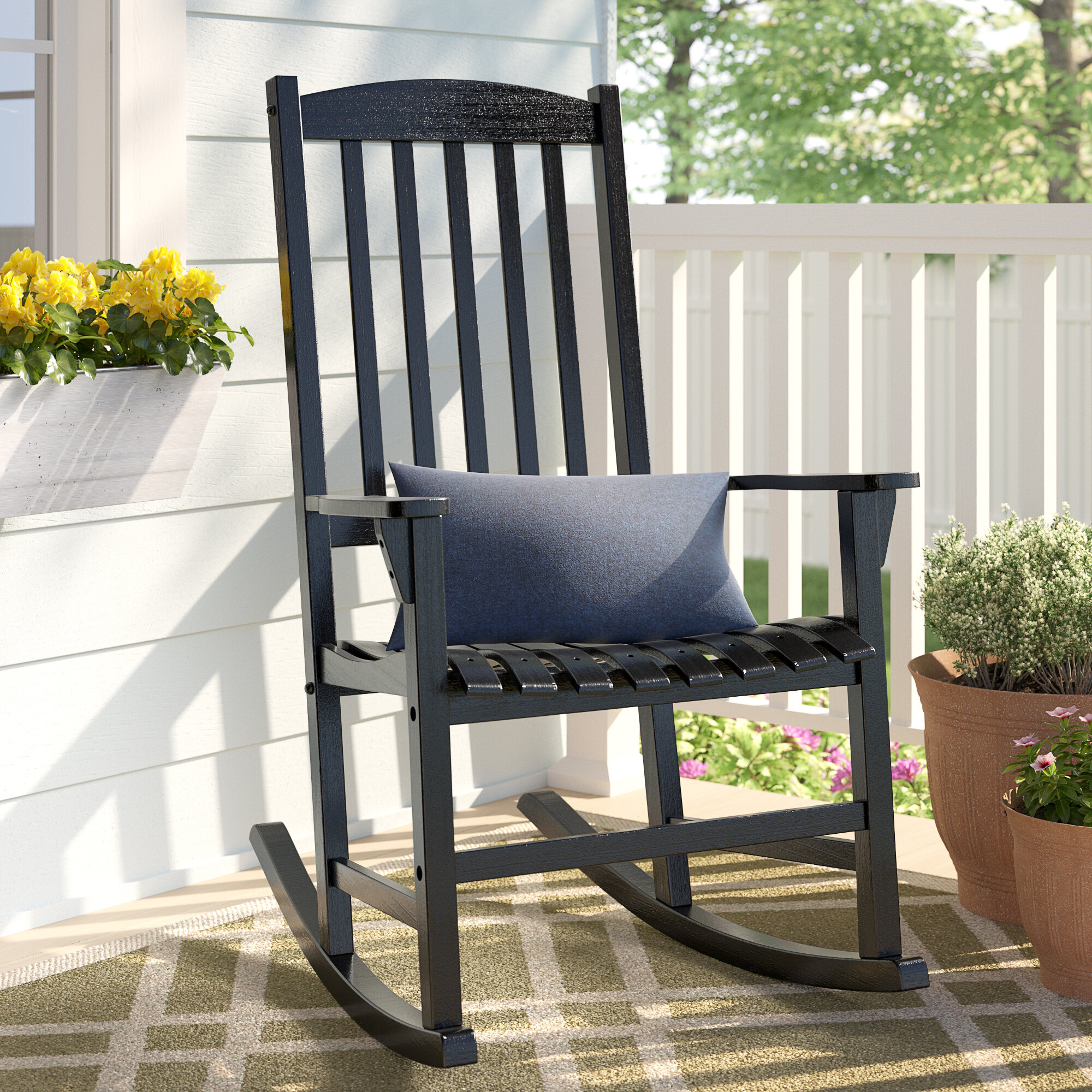 Marvelous Abasi Porch Rocker Chair Ibusinesslaw Wood Chair Design Ideas Ibusinesslaworg