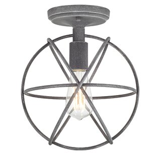 Player 1-Light Semi Flush Mount by Williston Forge
