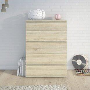 Zipcode Design Karev 5 Drawer Wood Chest