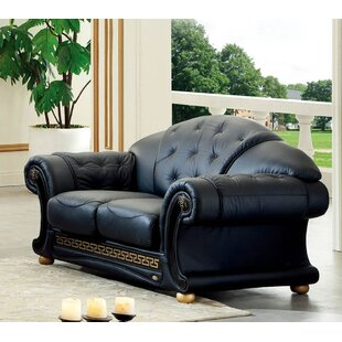Alexzander Leather Loveseat by Astoria Grand Today Only Sale
