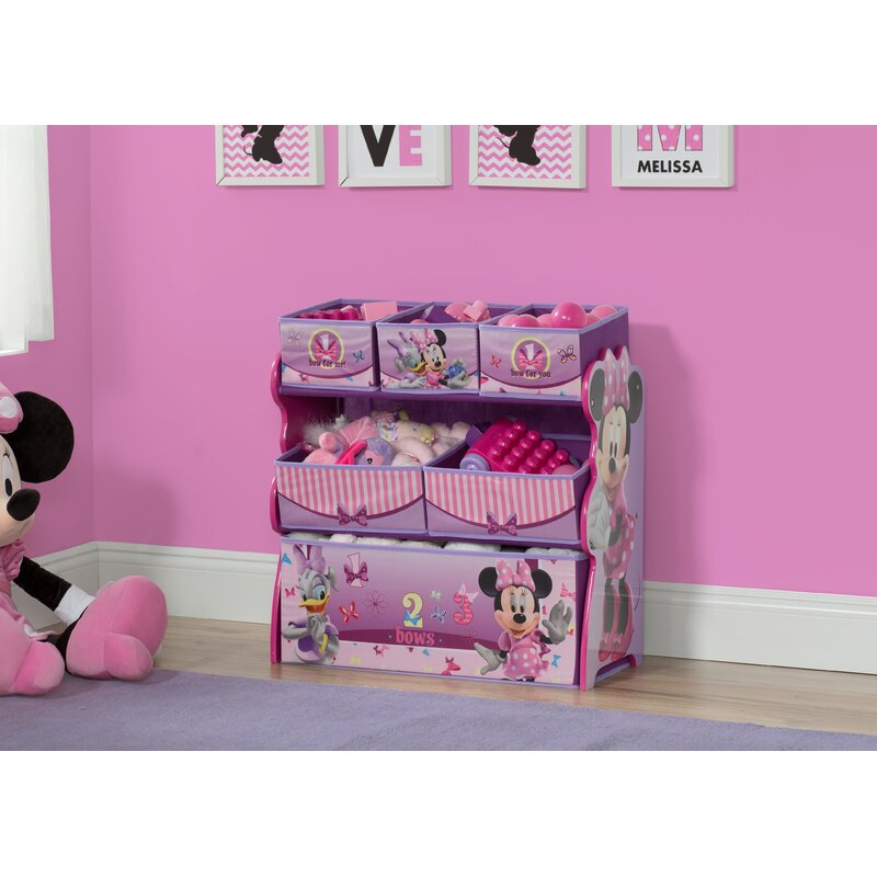 Minnie Mouse Multi Bin Toy Organizer