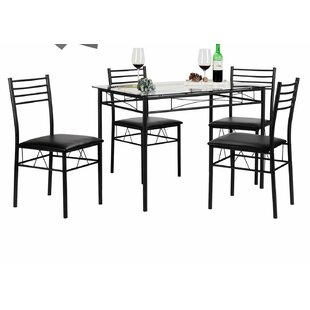 Lightle 5 Piece Breakfast Nook Dining Set..