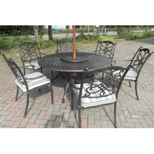 Canouan 6 Seater Dining Set With Cushions By Rosalind Wheeler