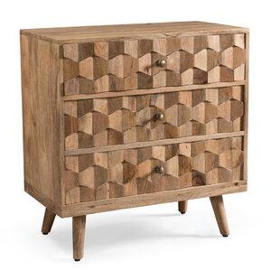 Westphal Mid-Century Modern Mango Wood 3 Drawer Accent Chest By Union Rustic