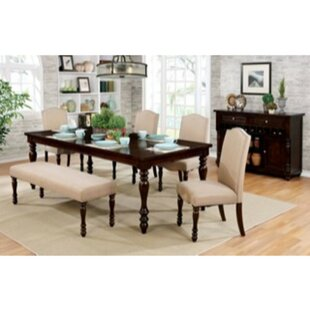 Kaan 6 Piece Extendable Solid Wood Dining..