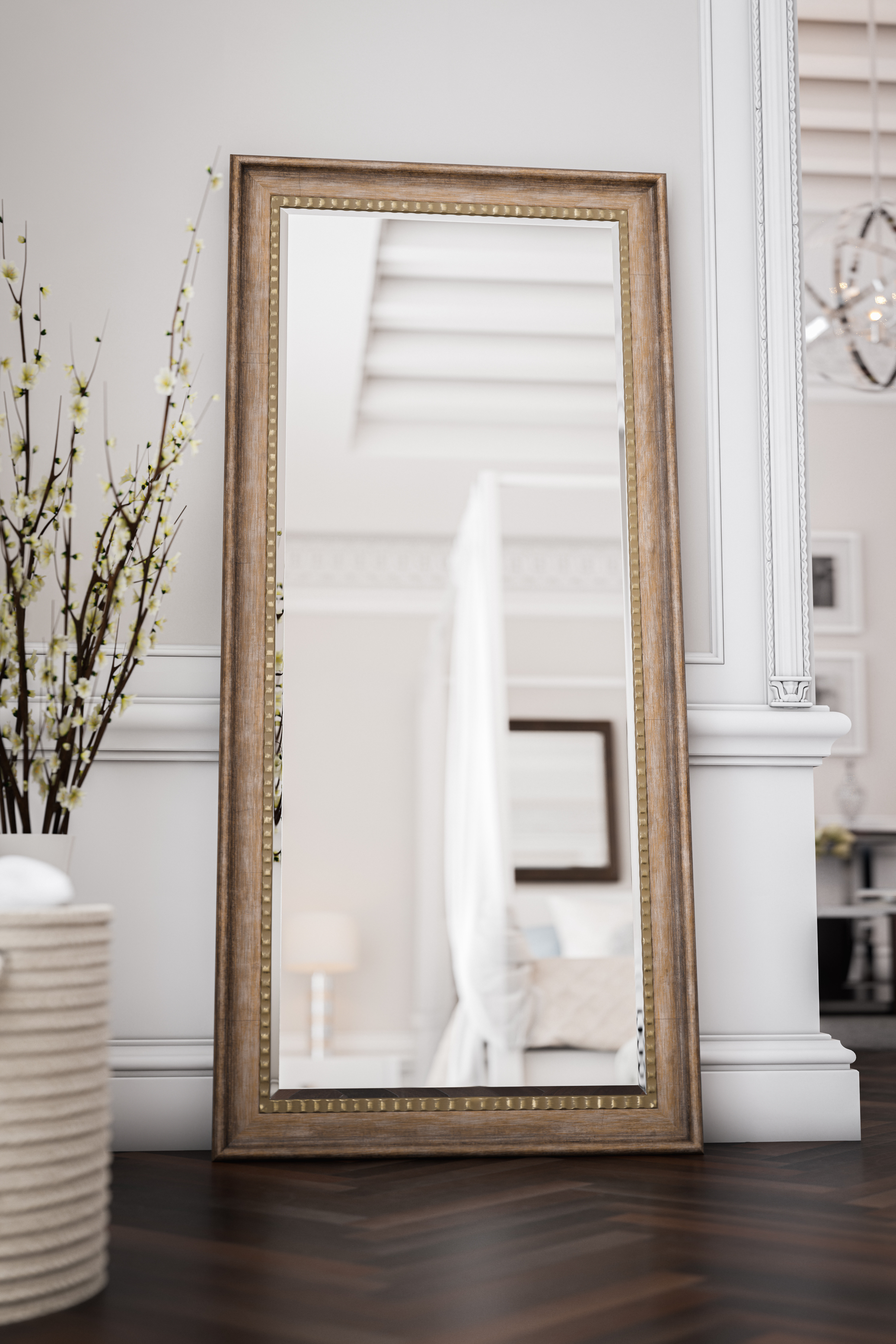 Foundry Select Brunswick Floor Rustic Beveled Distressed Full Length Mirror Reviews Wayfair