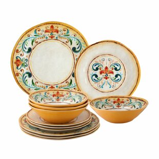Scarborough 12 Piece Melamine Dinnerware Set, Service for 4