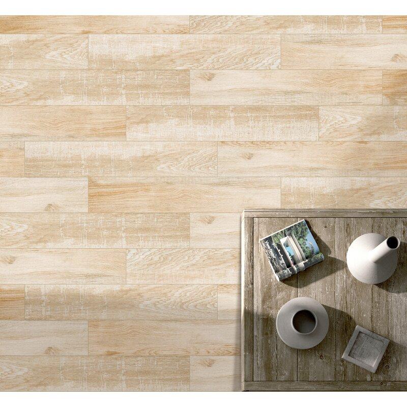 Emser Tile Pocono 6 X 36 Porcelain Wood Lookfield Tile In Oak
