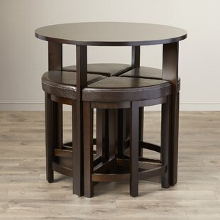 Earleville 5 Piece Dining Table Set Latitude Run