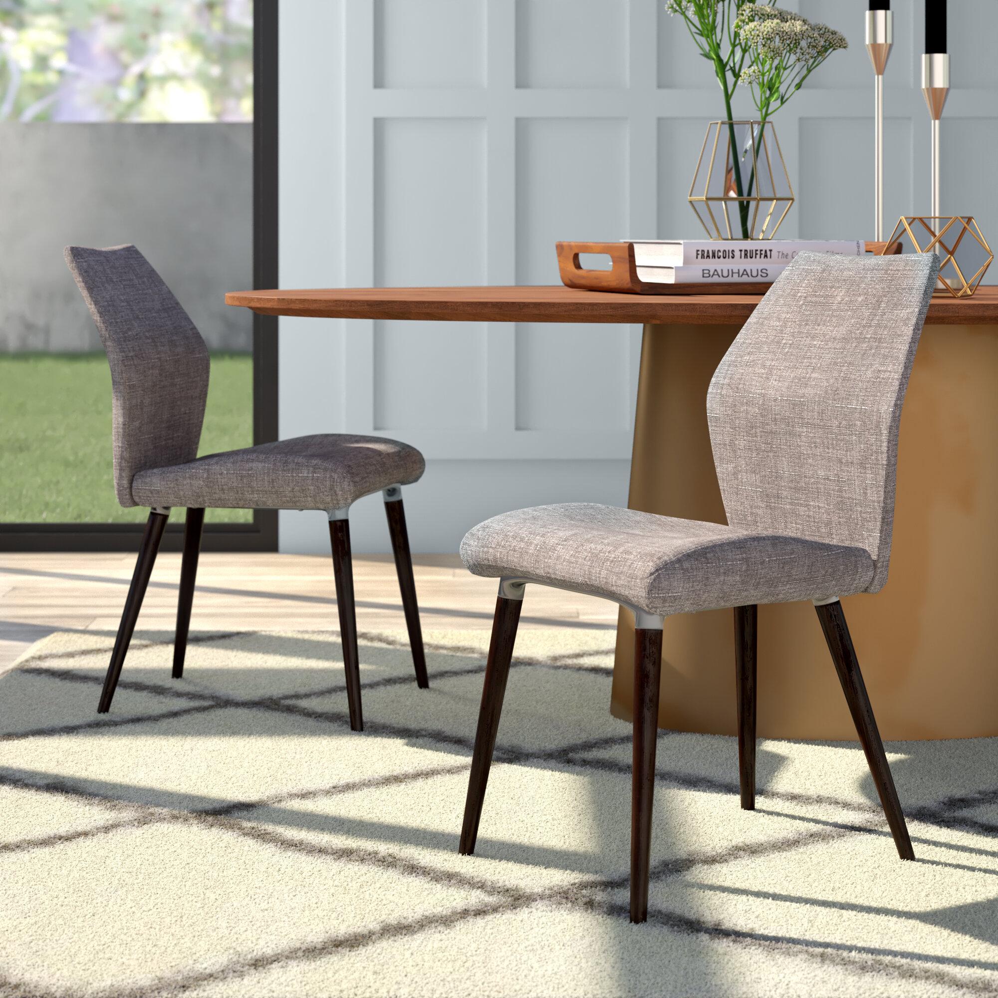 Faire Une Separation Entre 2 Pieces bloch linen upholstered side chair