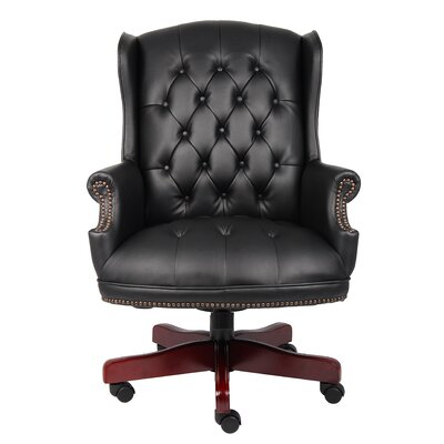 Childs Executive Chair Upholstery Material: Vinyl, Upholstery Color: Black Caressoft by Darby Home Co