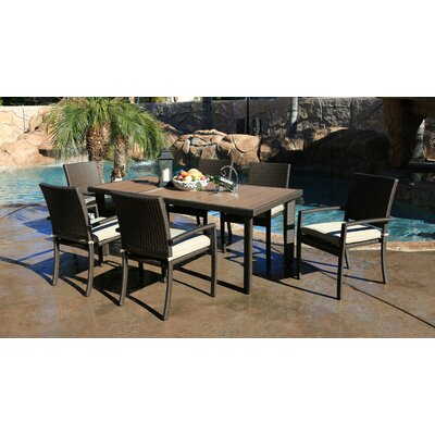 Heffington 7 Piece Wicker Dining Set With Cushion by Latitude Run #1