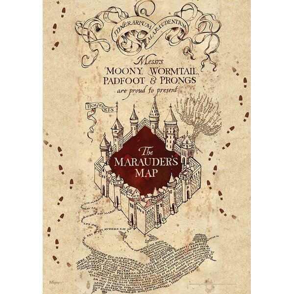 It's just an image of Tactueux Marauders Map Printable