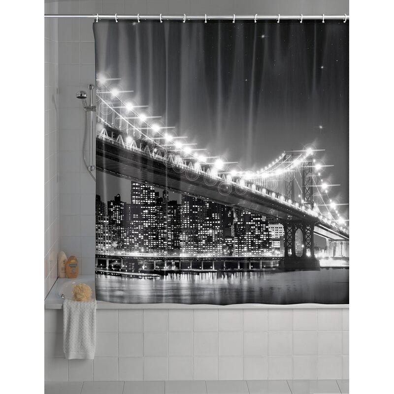 Wenko Inc Brooklyn Bridge LED Shower Curtain & Reviews | Wayfair