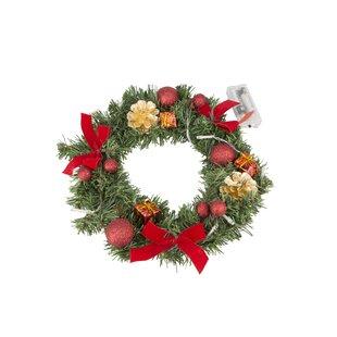 30cm Lighted Christmas Wreath By The Seasonal Aisle