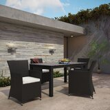 Bletchley Outdoor Patio 5 Piece Dining Set with Cushions