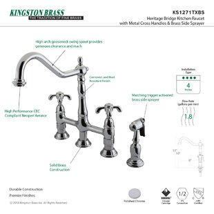 French Country Bridge Faucet with Optional Side Spray