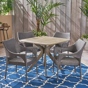 Gales Outdoor 5 Piece Dining Set by Wrought Studio