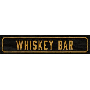 Whiskey Bar Street Sign Wall Décor by Watson&Co