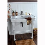 Imperial Vitreous China Circular Console Bathroom Sink with Overflow byKingston Brass