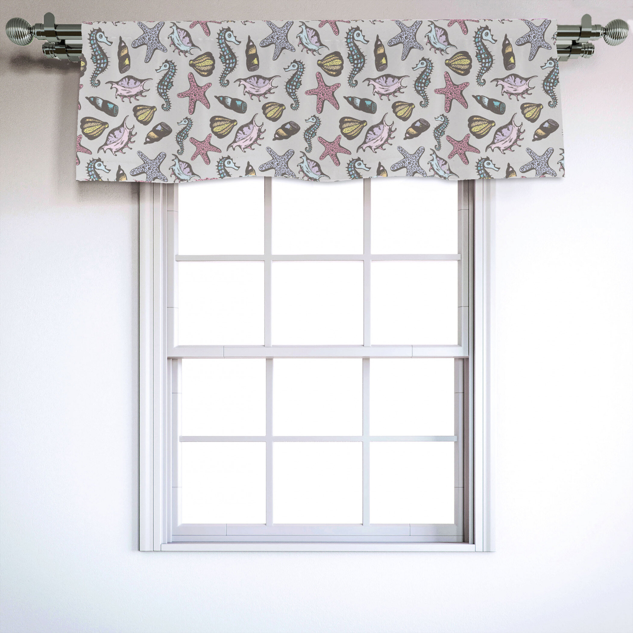 Carousel Designs Coral Pink Tropic Floral Window Valance Rod Pocket