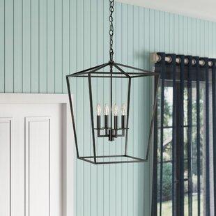 Noor Cage 4-Light Geometric Chandelier by Gracie Oaks
