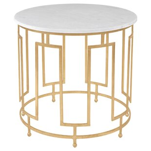 Lovely Reynaldo Round Metal End Table